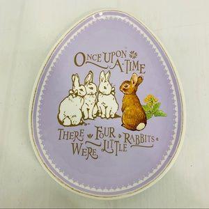 Pottery Barn Petter Rabbit Egg Easter Plate
